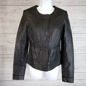 Kut from the Kloth Faux Leather Jacket Sz Small